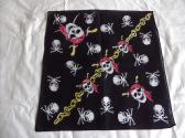 BANDANAED PIRATE SKULL AND SKULL AND CROSS BONES BANDANA